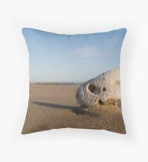Windy beach Throw Pillow