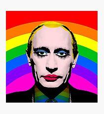 Putin as Gay Clown Photographic Print