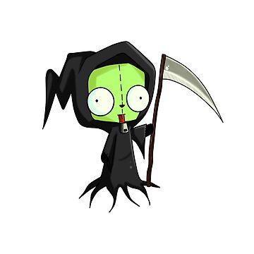 Invader Zim - Gir Spooky by GlubbyG
