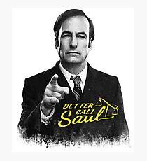 Better Call Saul B&W Photographic Print