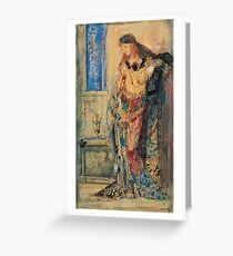 Gustave Moreau - The Toilette 1885 Greeting Card