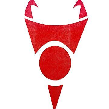 Invader Zim // Symbol // Red by GlubbyG