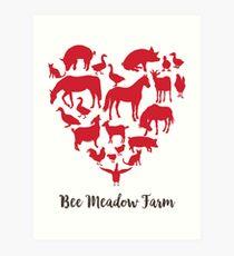 We Love Animals at Bee Meadow Farm Art Print