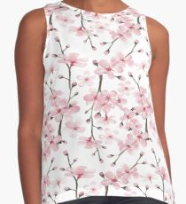 cherry blossom watercolor Contrast Tank