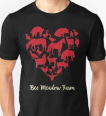 We Love Animals at Bee Meadow Farm DARK SHIRTS Unisex T-Shirt