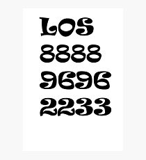 Números Photographic Print