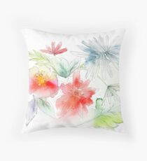 Flowers in my garden Throw Pillow