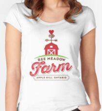 Bee Meadow Farm Logo Women's Fitted Scoop T-Shirt