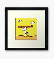 The Peanuts - Snoopy Surfing Framed Print