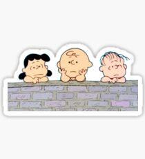 Charlie Brown Brick Wall Sticker
