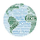 Protect Earth - Blue Green Words for Earth by jitterfly