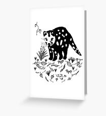 Spotted Tail Quoll- Dasyurus maculatus Greeting Card