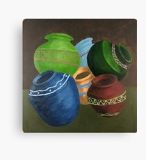 Traditional Pots Canvas Print
