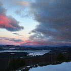 Sunset over Newfound Lake by csegalas