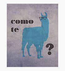 Como Te Llamas Humor Pun Poster Art Photographic Print
