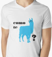 Como Te Llamas Humor Pun Poster Art Men's V-Neck T-Shirt