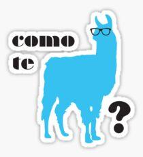 Como Te Llamas Humor Pun Poster Art Sticker