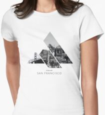 In love with San Francisco black/white Womens Fitted T-Shirt