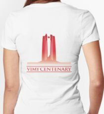 Vimy Centenary Flag Transition Women's Fitted V-Neck T-Shirt
