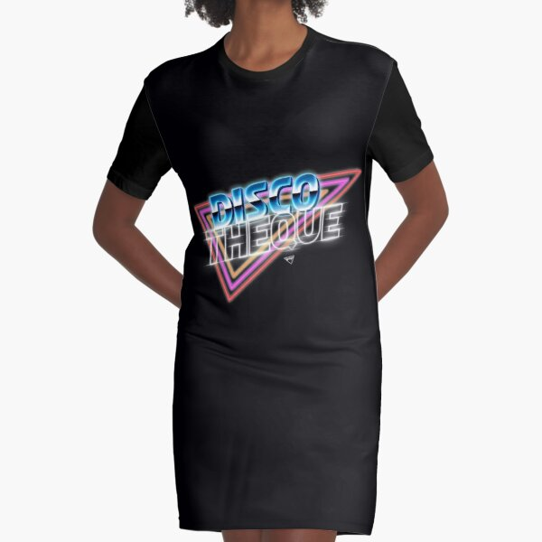 Discotheque Graphic T-Shirt Dress
