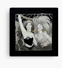 Clubbing Witches Canvas Print