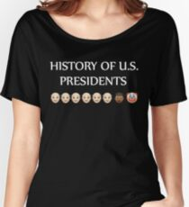 History of U.S. presidents shirt Women's Relaxed Fit T-Shirt