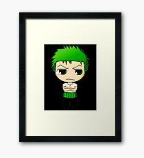 Chibi Zoro Framed Print