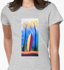The surfboard  Womens Fitted T-Shirt