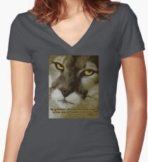 Humane Women's Fitted V-Neck T-Shirt