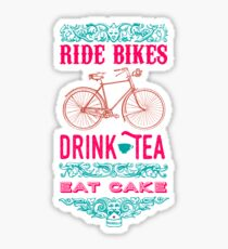 Cycling T Shirt - The Cake Stop Sticker
