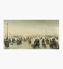 Hendrick Avercamp - Enjoying The Ice Near A Town, 1620 Photographic Print