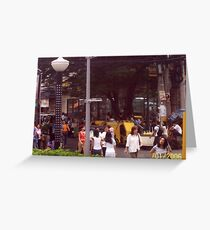 Bustling street.  Greeting Card