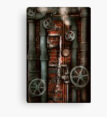 Steampunk - Plumbing - Pipes and Valves Canvas Print