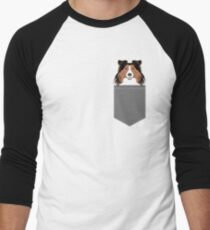 Jordan - Shetland Sheep Dog gifts for sheltie owners and dog people gift ideas perfect dog gifts Men's Baseball ¾ T-Shirt