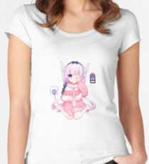 Loli Dragon Women's Fitted Scoop T-Shirt