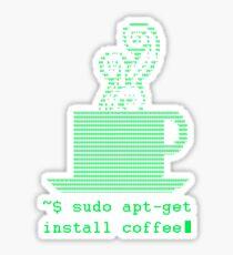 Sudo apt-get  install coffee Sticker