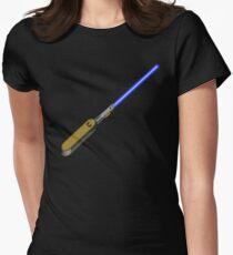 light-swiss-knife-blue-1 Womens Fitted T-Shirt