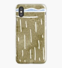 retro cartoon wooden cup with water iPhone Case/Skin