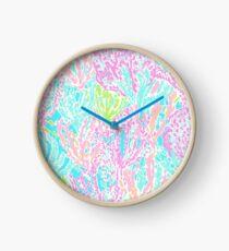 Coral Print Clock