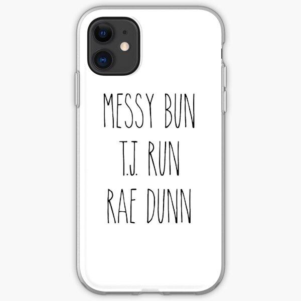 Messy Bun, T.J. Run, Rae Dunn iPhone Soft Case