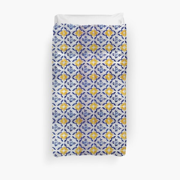 Portuguese Blue and yellows tiles  Duvet Cover