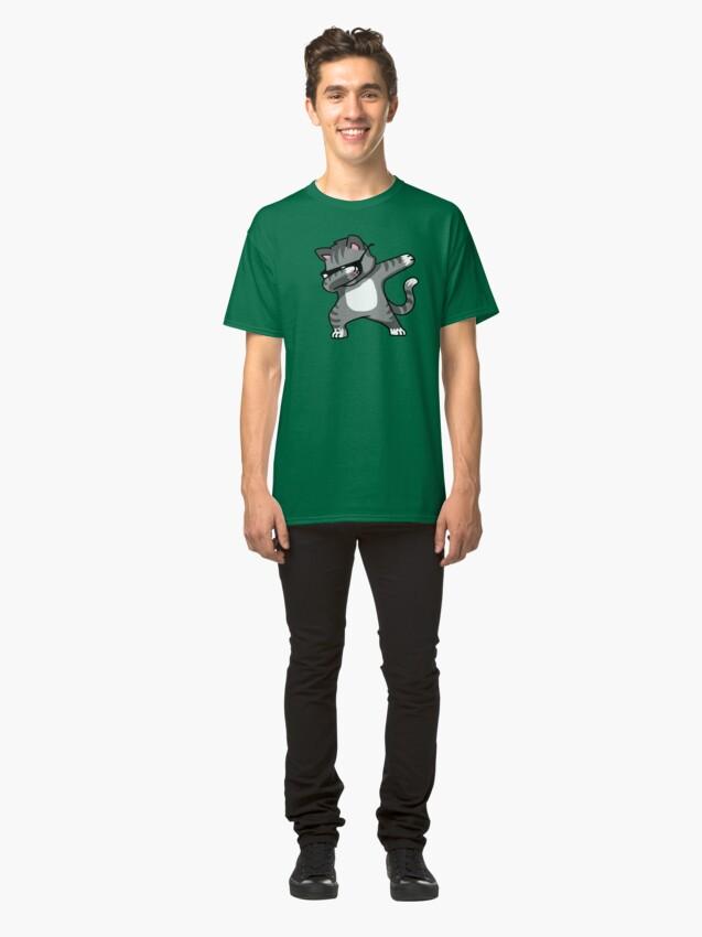 Alternate view of Dabbing Cat Funny Hip Hop T-shirt Classic T-Shirt