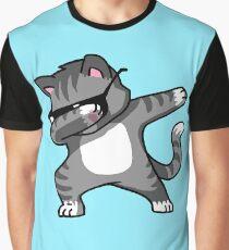 Dabbing Cat Funny Hip Hop T-shirt Graphic T-Shirt