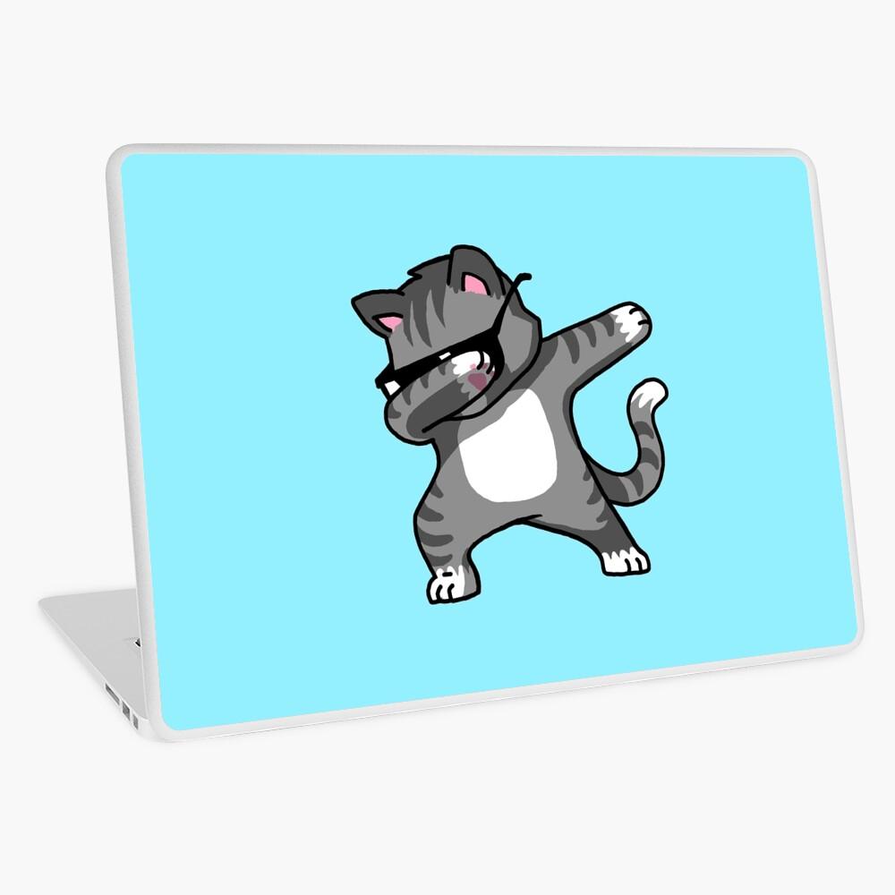 Dabbing Cat Funny Hip Hop T-shirt Laptop Skin