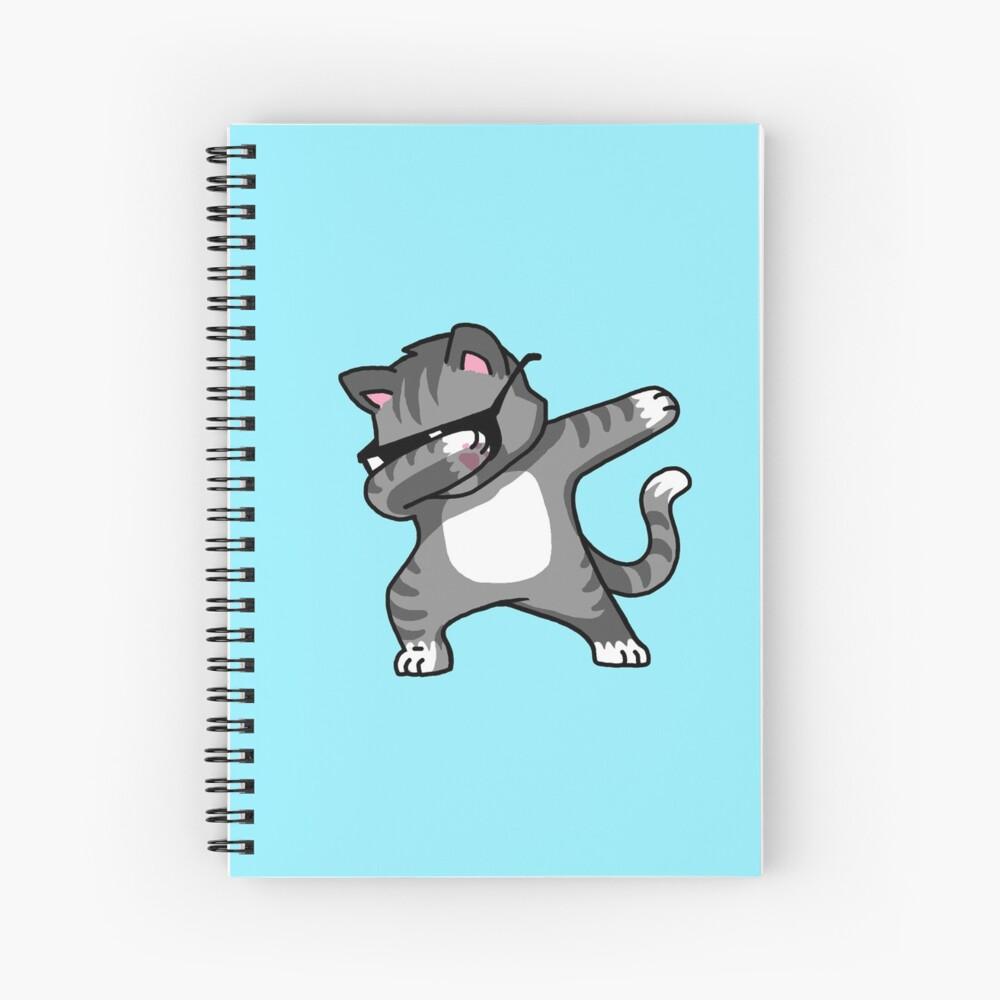 Dabbing Cat Funny Hip Hop T-shirt Spiral Notebook