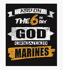 God Created Marines Photographic Print
