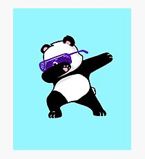 Tupfender Panda Fotodruck