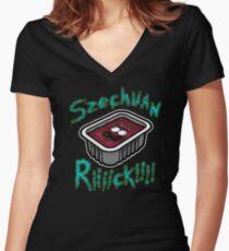 Szechuan Rick Women's Fitted V-Neck T-Shirt