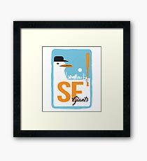 SF Baseball Seagull Framed Print