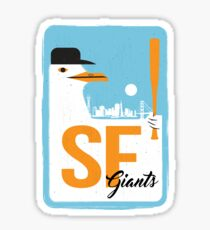 SF Baseball Seagull Sticker